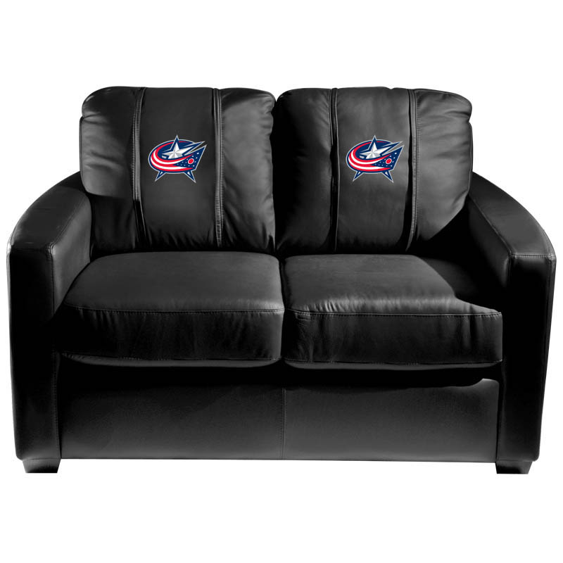 Columbus Blue Jackets NHL Silver Love Seat