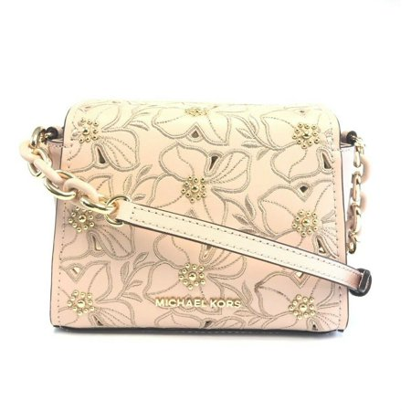 7bc4537808bf Michael Kors Sofia Small Crossbody Ballet Pink Perforated Floral Studded -  Walmart.com