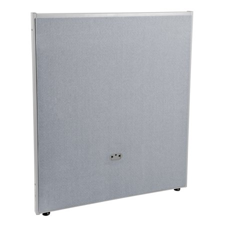 P4737-GF-GV Office Furniture RIZE Series 2 Inch Wide Gray Steel Frame 47 Inch x 37 Inch Gray Vinyl Panel 47 Chest 37 Sleeve