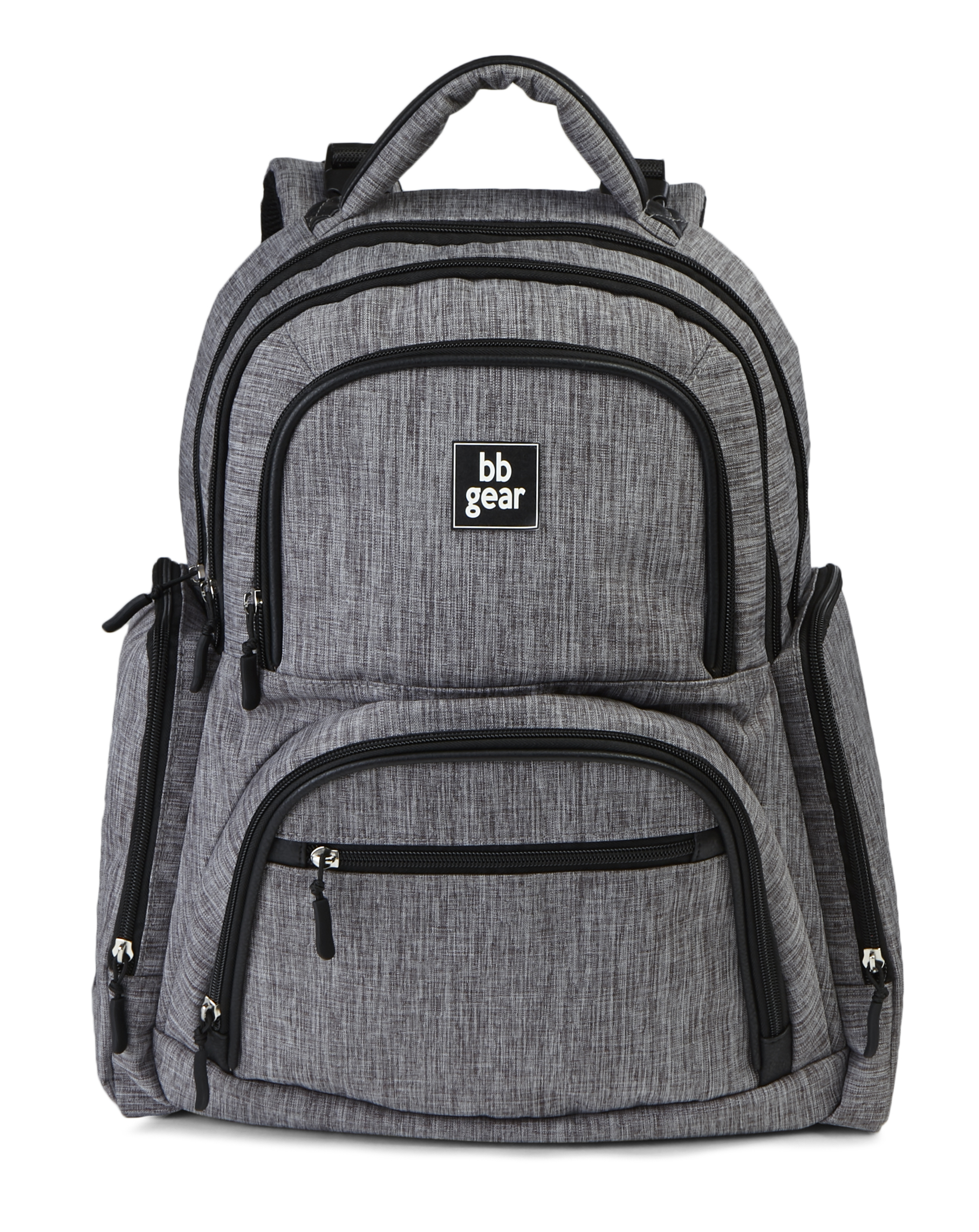 Baby Boom BB Gear Grey Heather Backpack Diaper Bag by Baby Boom BB Gear
