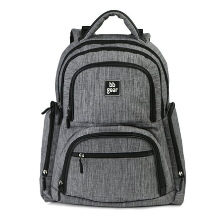 Baby Boom BB Gear Grey Heather Backpack Diaper