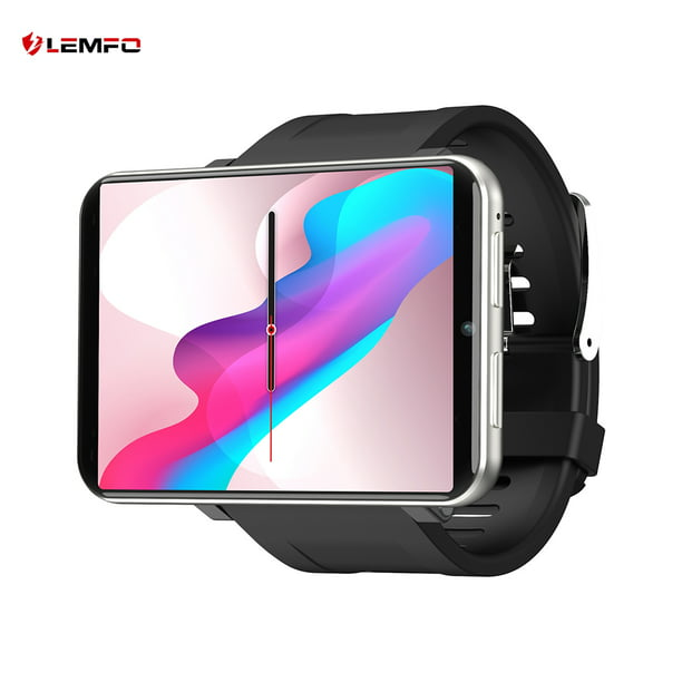 LEMFO LEMT 4G Game Smart Watch 2.86 inch Big Screen Android 7.1 LTE 4G Sim Camera IP67 Waterproof GPS WIFI Heart Rate Sports Smart Bracelet Silver RAM3G ROM32G
