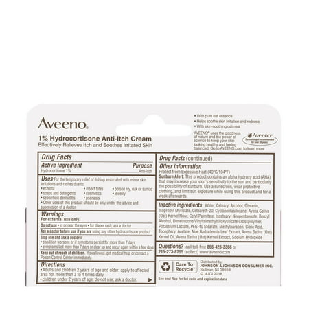 Aveeno Maximum Strength 1% Hydrocortisone Anti-Itch Cream