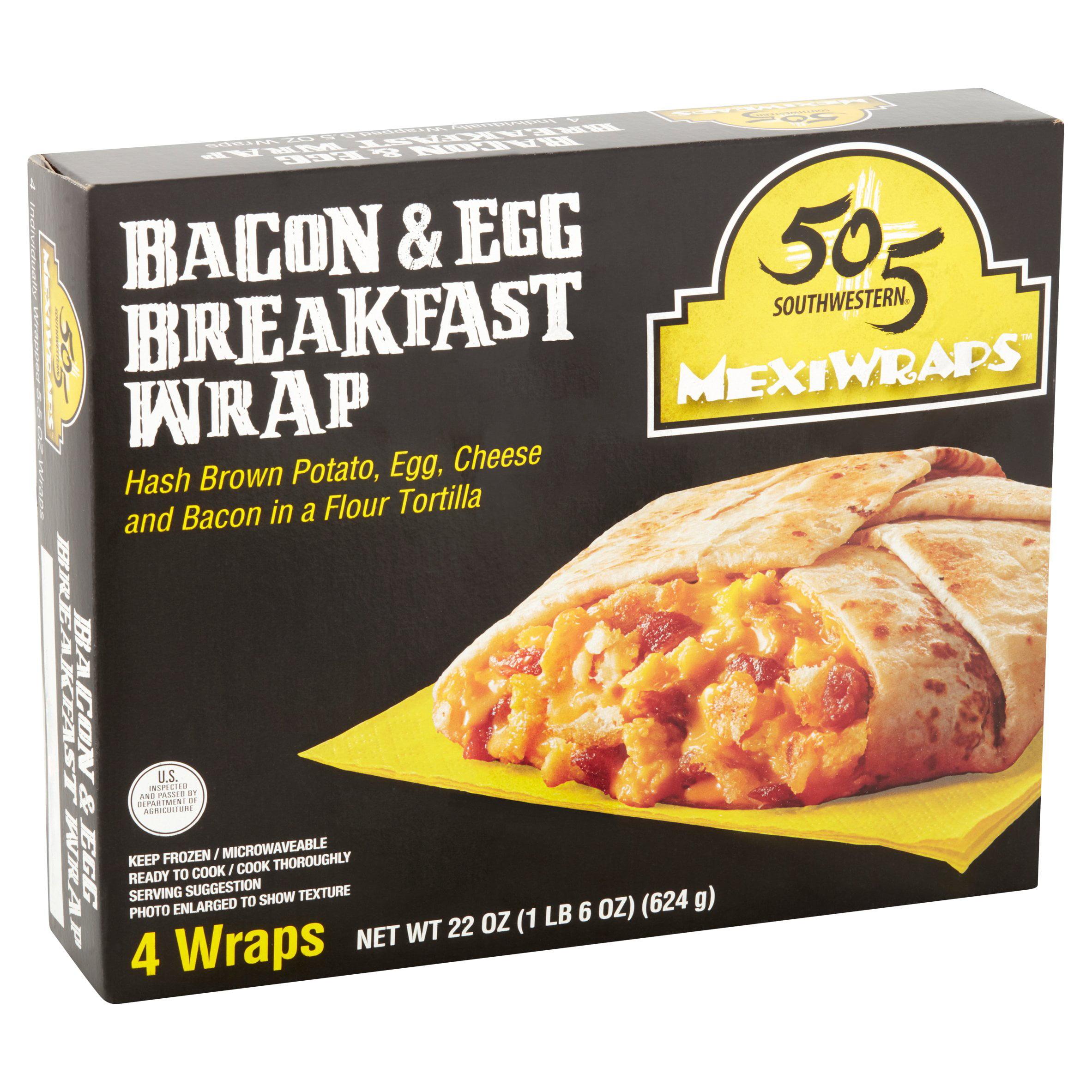 505 Southwestern MexiWraps Bacon & Egg Breakfast Wrap, 5.5 oz, 4 count