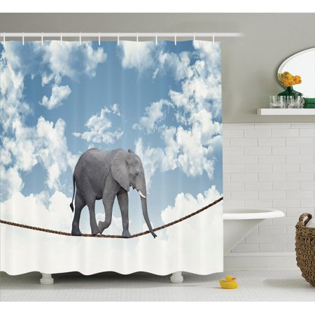 Elephants decor shower curtain set classic african African elephant home decor