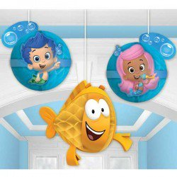 Bubble Guppie Party (Amscan Bubble Guppies&Trade Party Honeycomb Decorations)