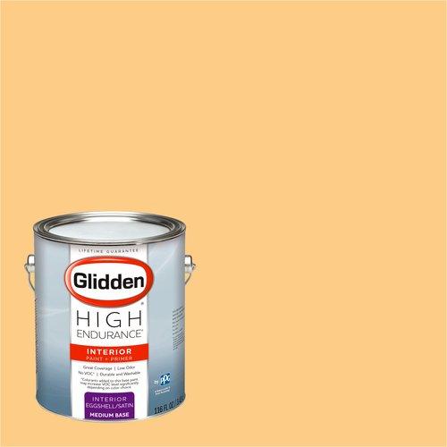 Pale Orange Paint glidden high endurance, interior paint and primer, pale orange