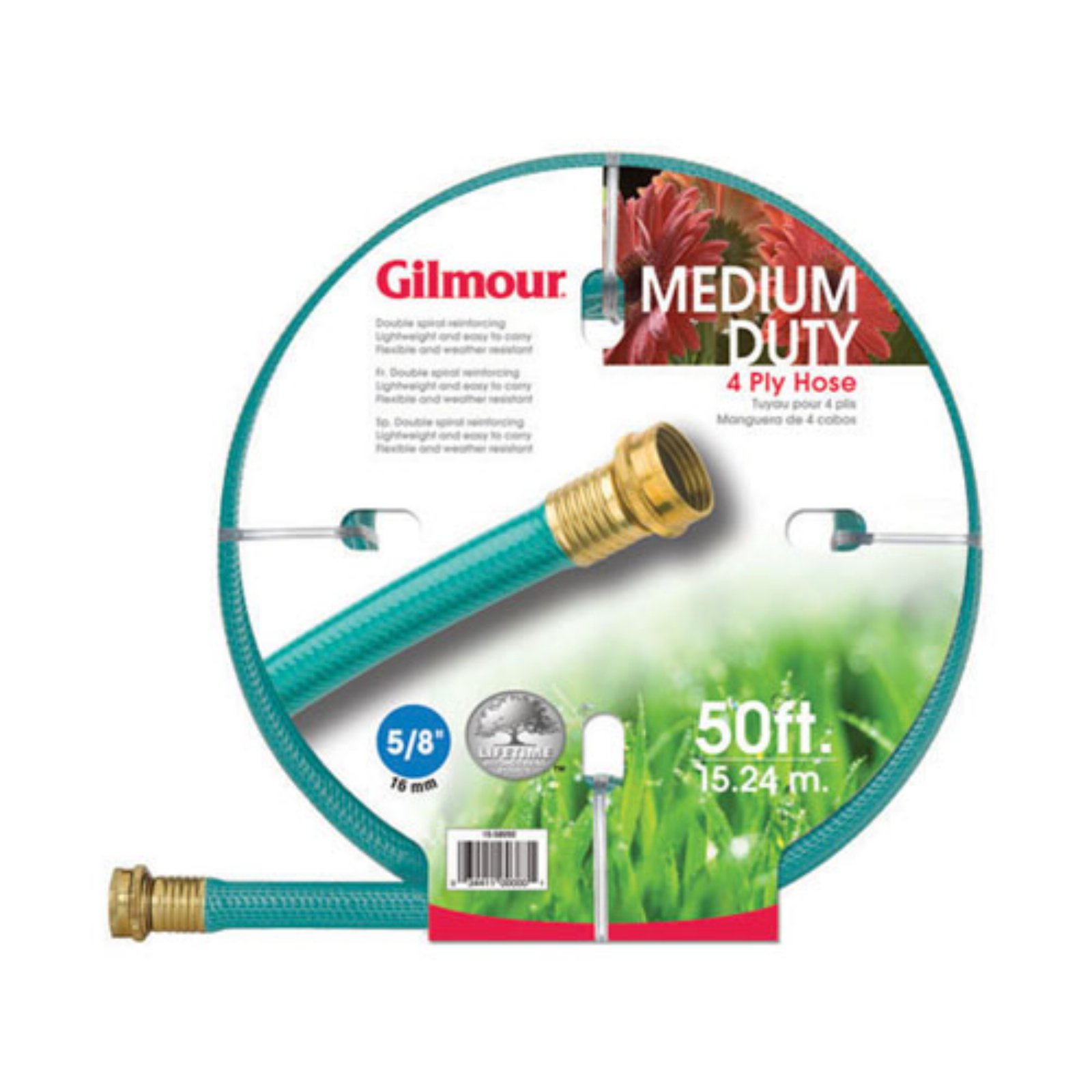 "Gilmour 15058050 5 8"" x 50' 4 Ply Reinforced Vinyl Garden Hose by Fiskars Brands Inc Watering"