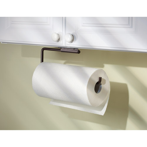 Perfect InterDesign Swivel Paper Towel Holder For Kitchen, Wall Mount/Under Cabinet,  Bronze