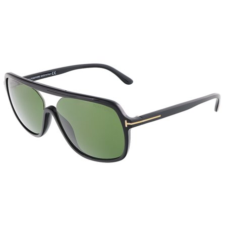 Tom Ford FT0442/S 01N ROBERT Shiny Black Square sunglasses Black Headset Sunglasses