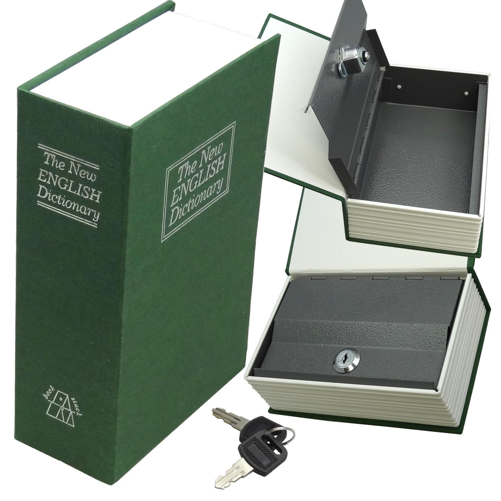 Hidden Secret Book Safe Medium Green