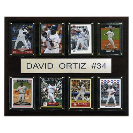 - C&I Collectables MLB 12x15 David Ortiz Boston Red Sox 8-Card Plaque