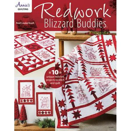 Blizzard Buddies - Redwork Blizzard Buddies