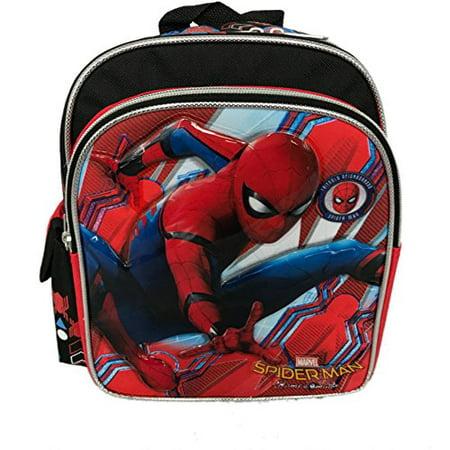 Mini Backpack - - Spiderman Homecoming 10 Black/Red Bag 694876 (Spider Man Bag)