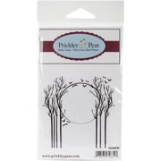 "Prickley Pear Cling Stamps 2.75""x2.5""-Trees In The Moonlight"