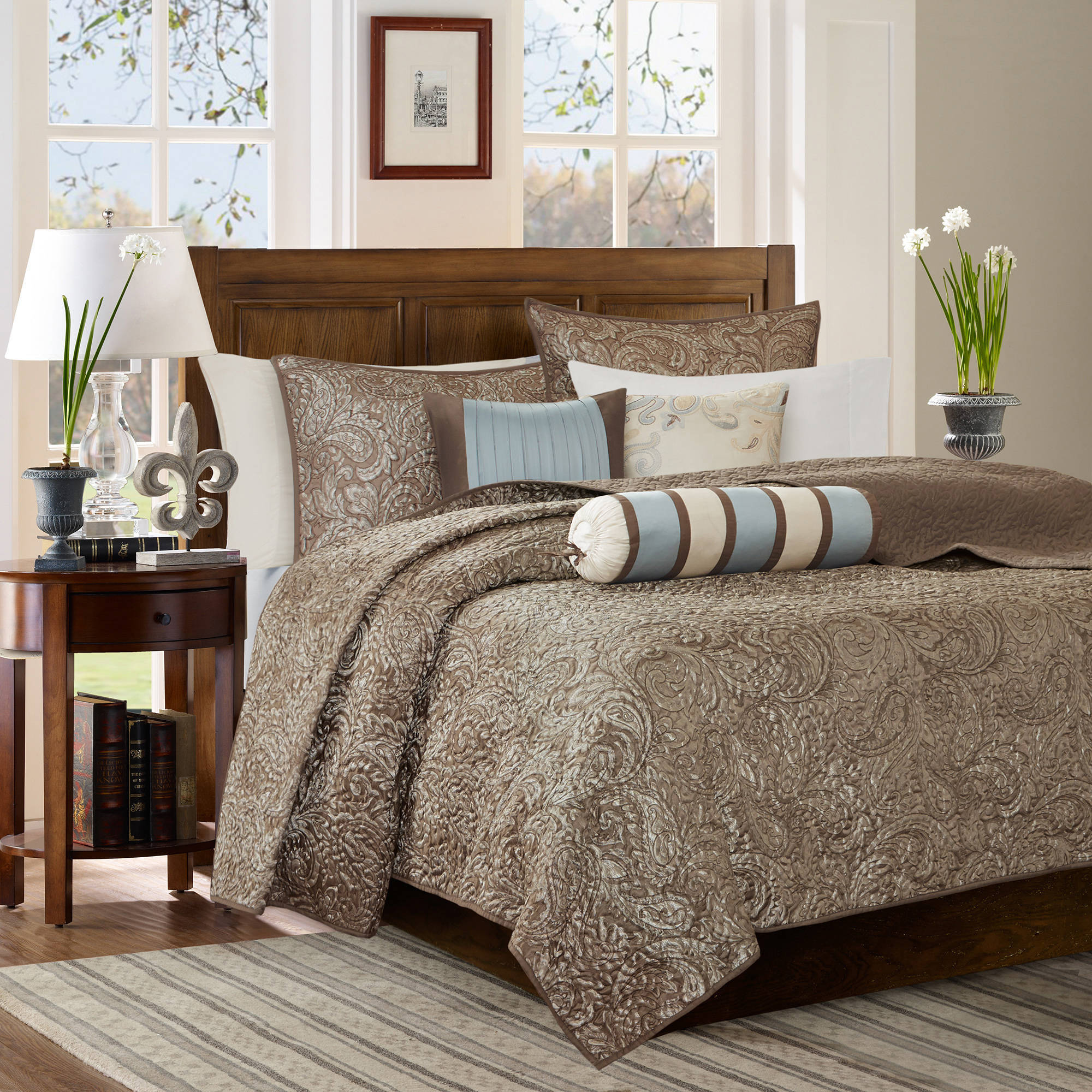 Home Essence Whitman Quilted Coverlet Set by E&E Co.
