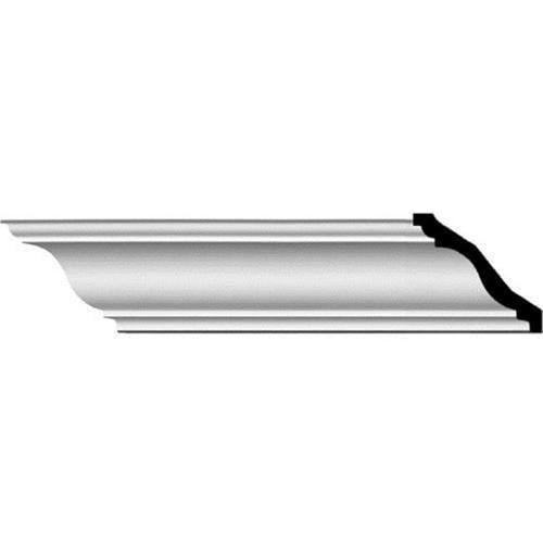 Ekena Millwork MLD04X04X06SG 4. 88 inch H x 4. 38 inch P x 6. 50 inch F x 94. 50 inch L Strasbourg Traditional Crown Moulding