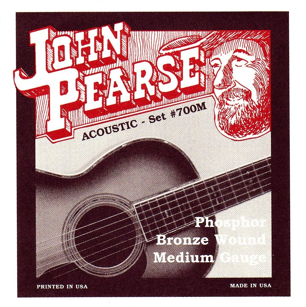 700M Phosphor Bronze Acoustic Guitar Strings, Phosphor Bronze Wound By John Pearse From... by