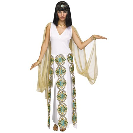 Fun World West Nile Cleopatra 3pc Women Costume, Small/Medium 2-8, White - Homemade Cleopatra Costume
