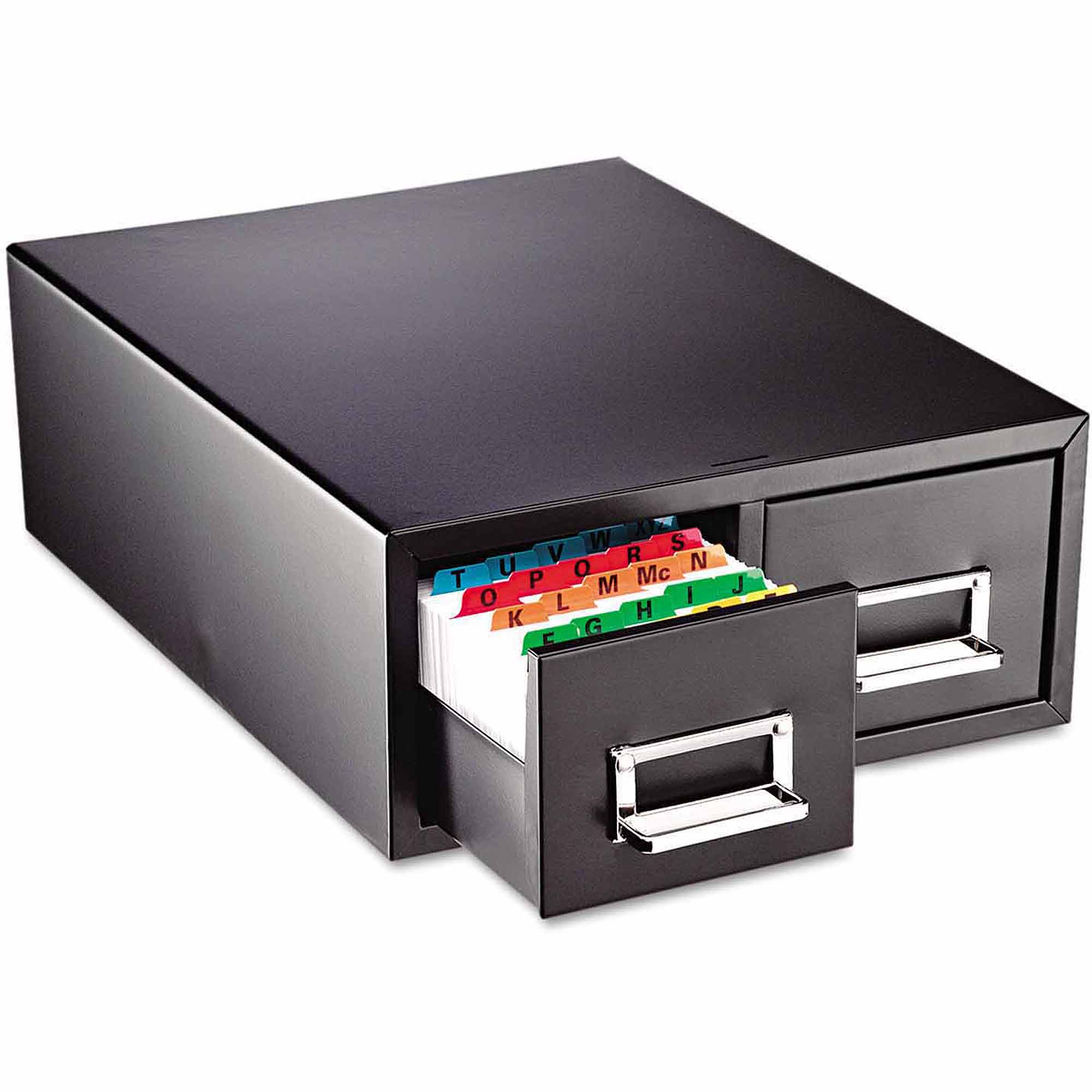 "SteelMaster Drawer Card Cabinet, Holds 3,000 6"" x 9"" cards"