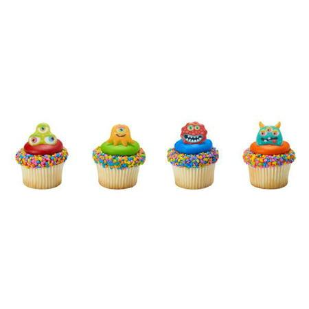 Eyeball Monsters Cupcake Rings 12 Count - Monster Eyeballs Halloween Treat Recipe