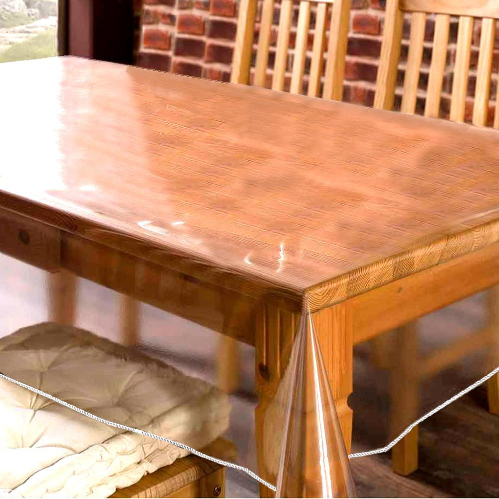 Clear PVC Table /& Surface Protector Waterproof Tablecloth Premium Quality