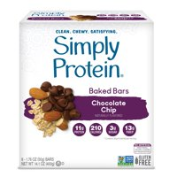 Simply Protein Baked Bar, Chocolate Chip, 11g Protein, 8 Ct