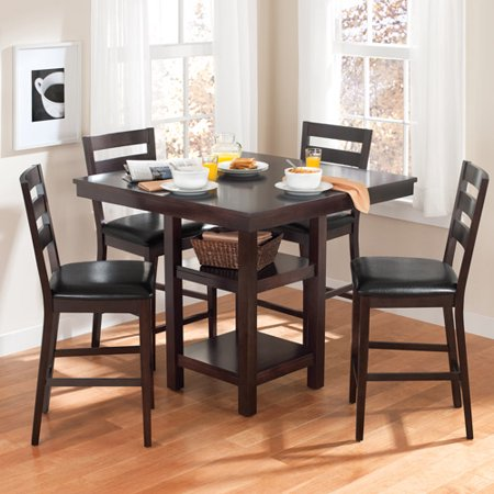 Canopy 5 pc wood dining set for Small tall kitchen table