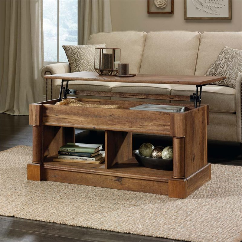 Sauder Palladia Lift Top Coffee Table, Vintage Oak Finish