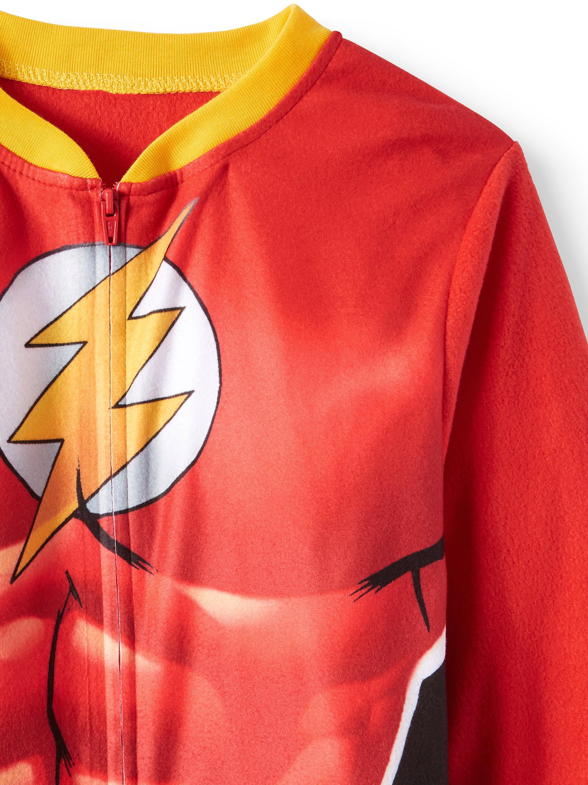 f17aca7d3f Komar Kids - DC Comics The Flash Fleece Sleeper Pajamas - Walmart.com