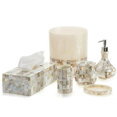 Creative Scents Milano Bathroom Accessories Set 6 Piece Bath Collection Features Soap Dispenser