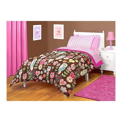 Click here to buy American Kids Owl Twin Full Microfiber Bedding Comforter by Generic.