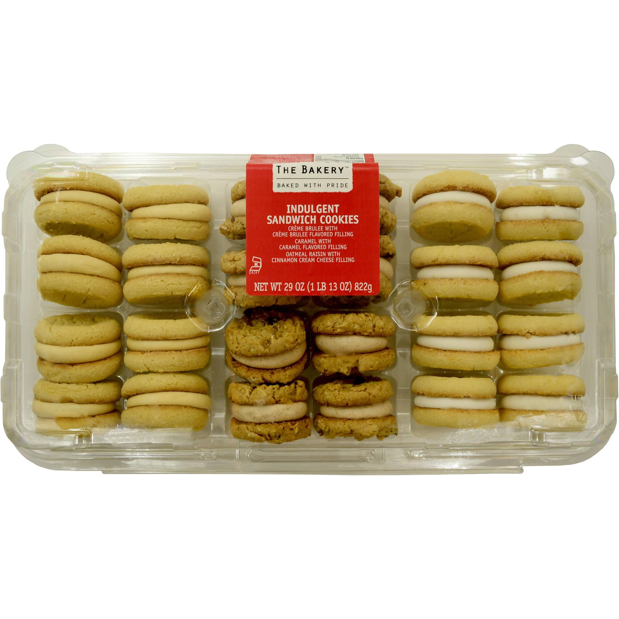 The  Bakery at Walmart Variety Sandwich Cookies: crème brulee, caramel, oatmeal raisin