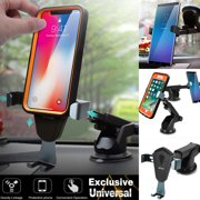 360? Universal Gravity Car Mount Windshield Dashboard Holder Stand Cradle for Cell Phone iPhone Samsung GPS [Compatible with Otterbox Defender Heavy Duty Case]