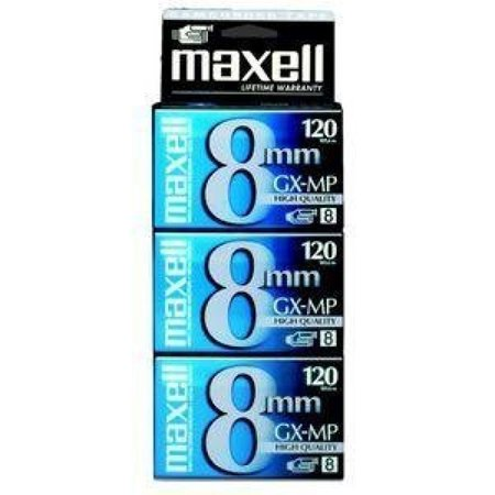 Maxell GX-MP High Quality 120 Camcorder tapes, 3 Pack ()