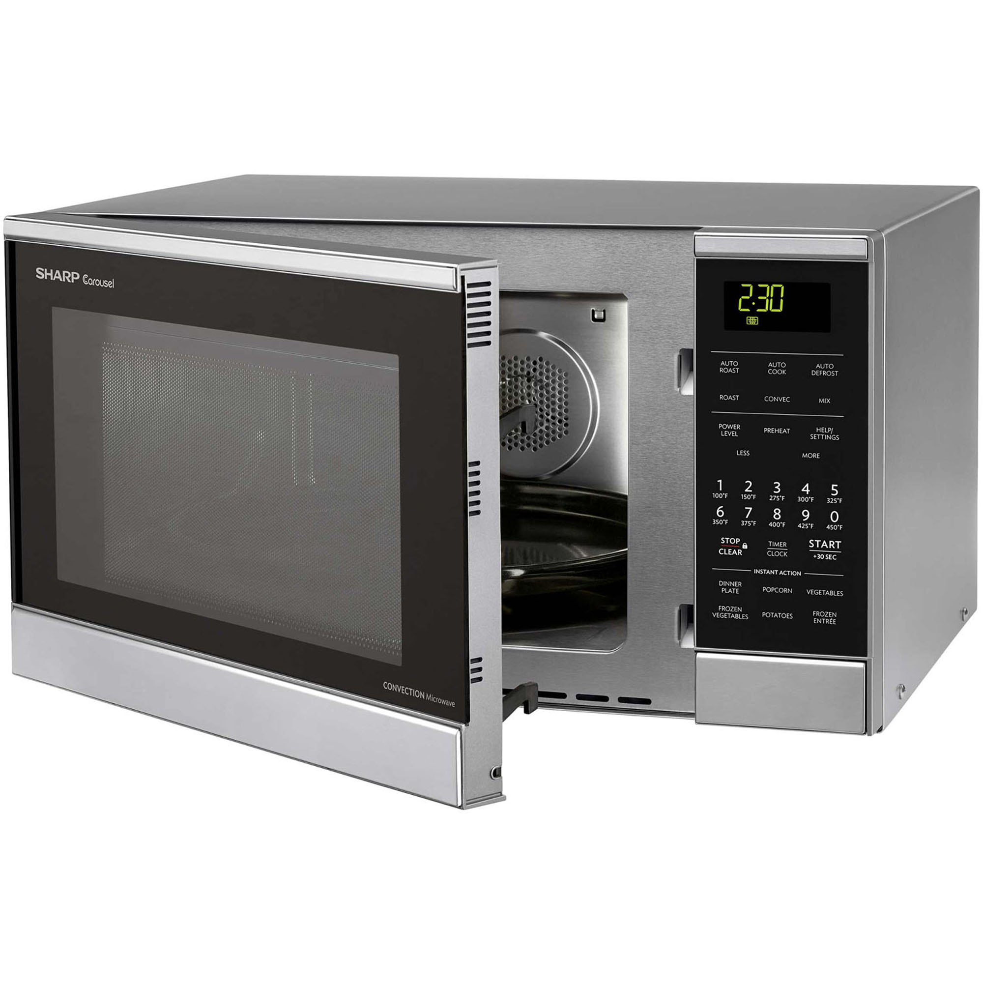 900w Countertop Convection Microwave Oven Stainless Steel