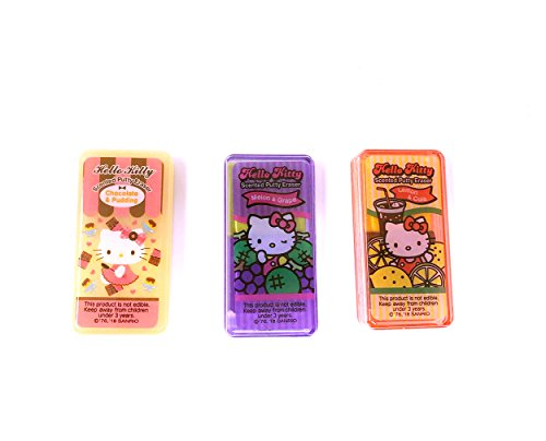 Melon and Grape Scent Hello Kitty Scented Putty Eraser in Case