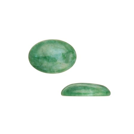 Oval Dome Semi-Precious Cabochon Stones Jade 18x25mm Beading Supply 2pcs (Jade Faceted Oval Beads)