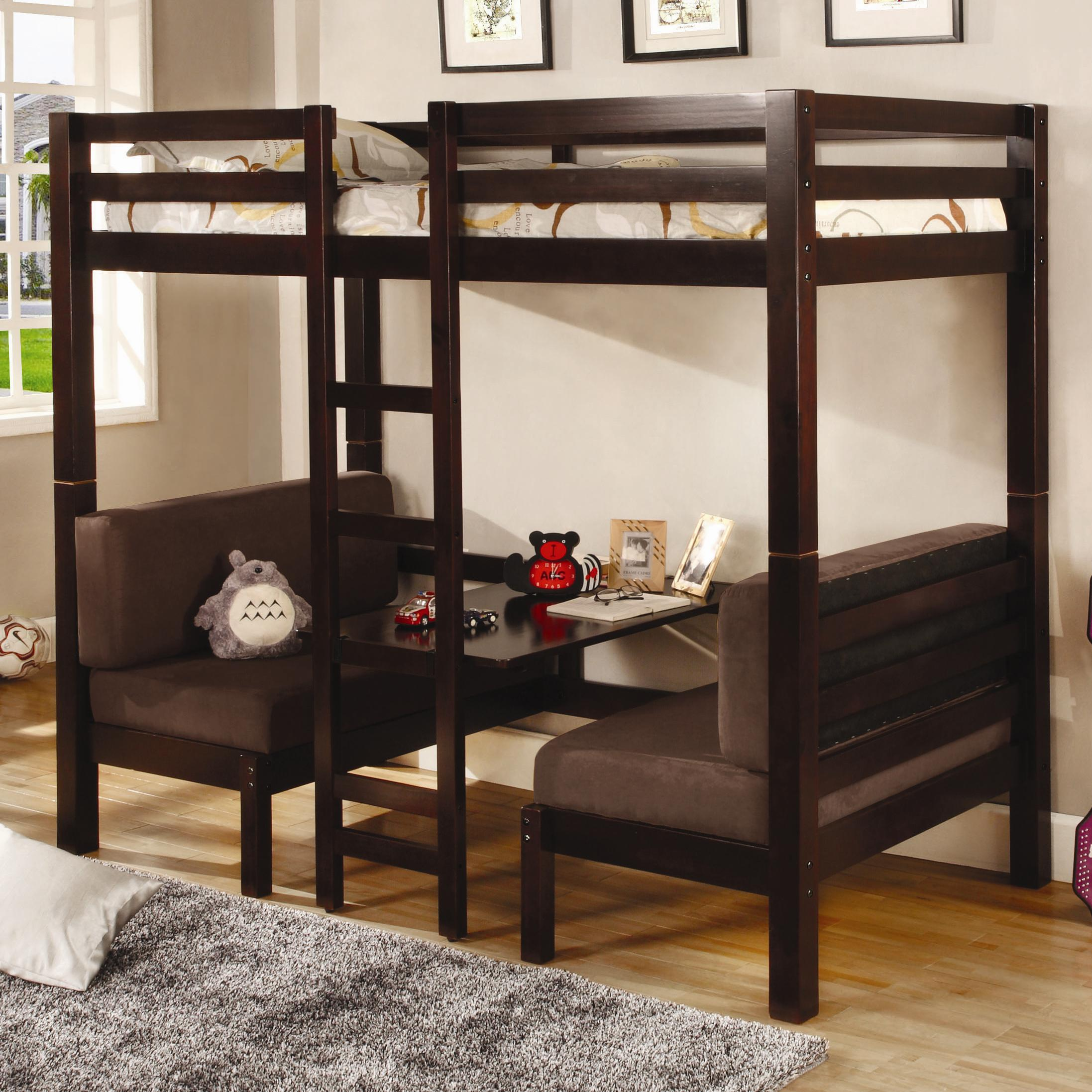Coaster 460263 Twin Over Twin Convertible Loft Bed Cappuccino Finish