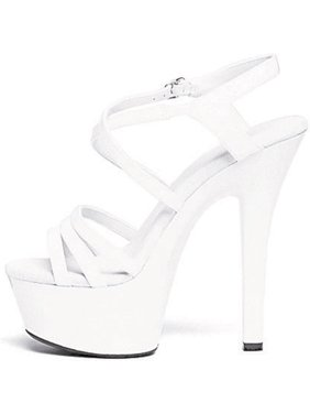 4770e905919 Product Image 6 Inch Women s Sexy Strappy Shoes Mid Platform Sandals Black  White