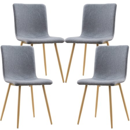 Poly and Bark Wadsworth Dining Chair with Natural Legs (Set of 4) ()