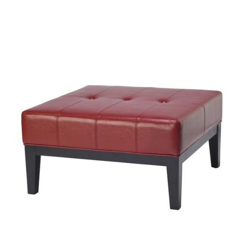 Superieur Safavieh Fulton Storage Red Bicast Leather Square Ottoman