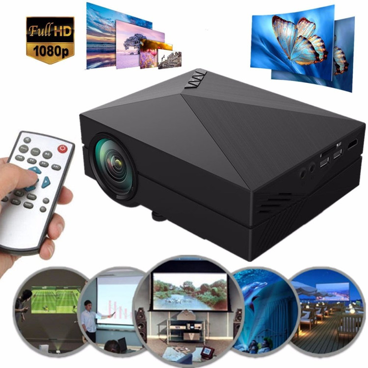 Upgraded 1000 Lumens Mini Projector, Portable LED Projector Support 1080P HDMI USB VGA AV, Multimedia Home Theater LCD Video Projector