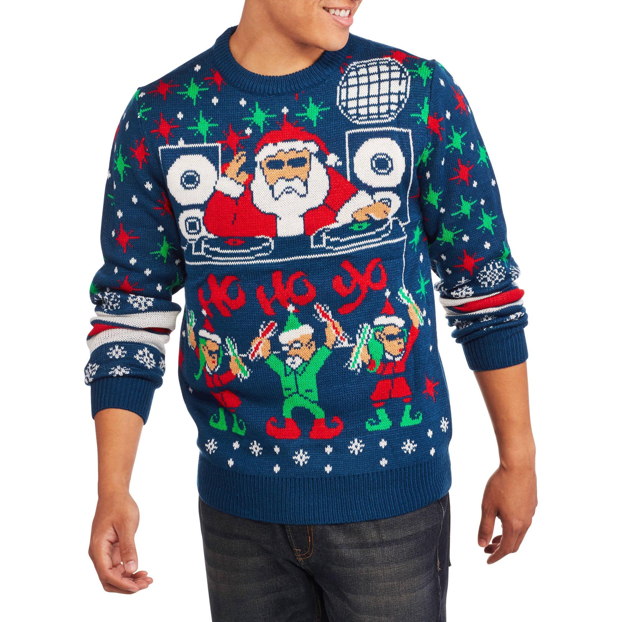 Dj Santa Big Mens Ugly Christmas Sweater 2xl Walmartcom