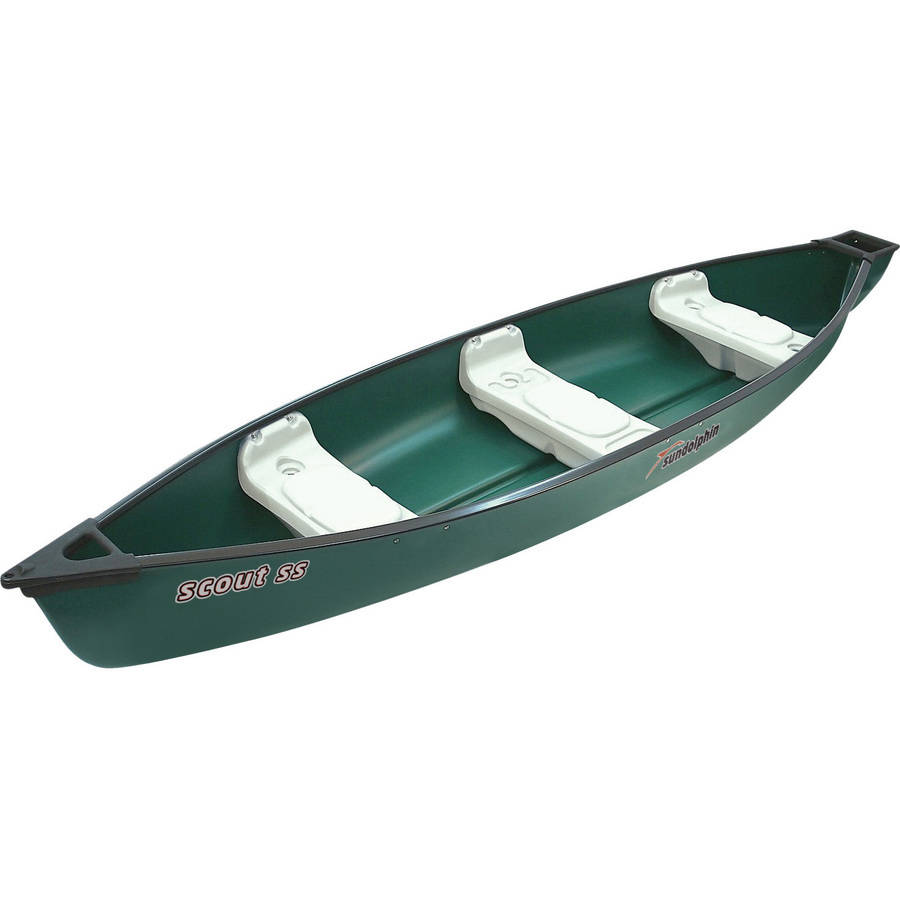 Sun Dolphin Scout 14' Square Back Canoe, Green by KL Industries