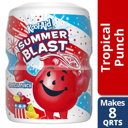 Kool-Aid Sugar Sweetened Tropical Punch Powdered Soft Drink, 19 oz Jar