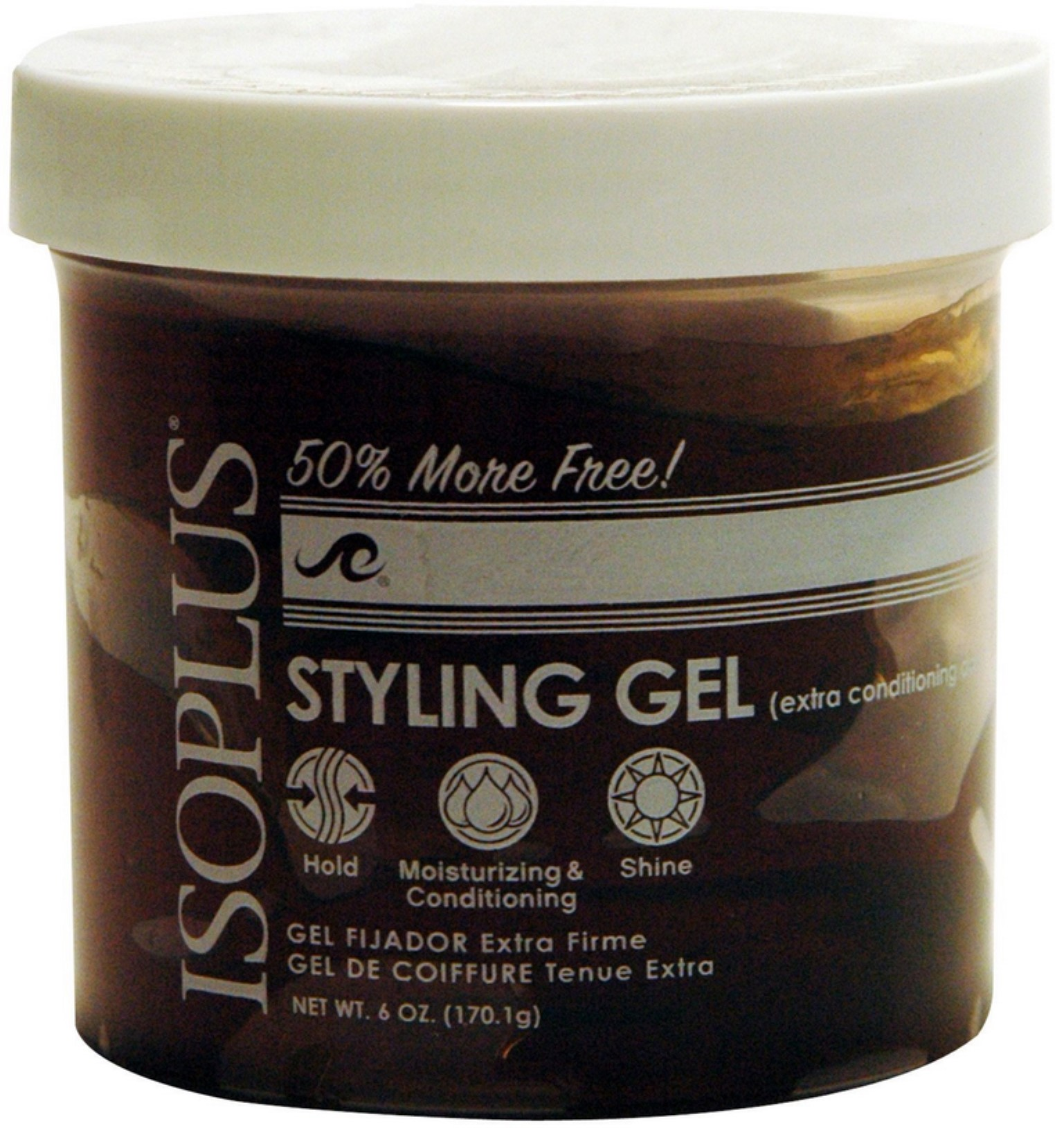 Isoplus Styling Gel Extra Conditioning Dark, 6 oz (Pack of 6)