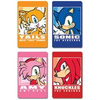 Postcard - Sonic The Hedgehog - New Post Card Anime Toys Set of 4 ge73007