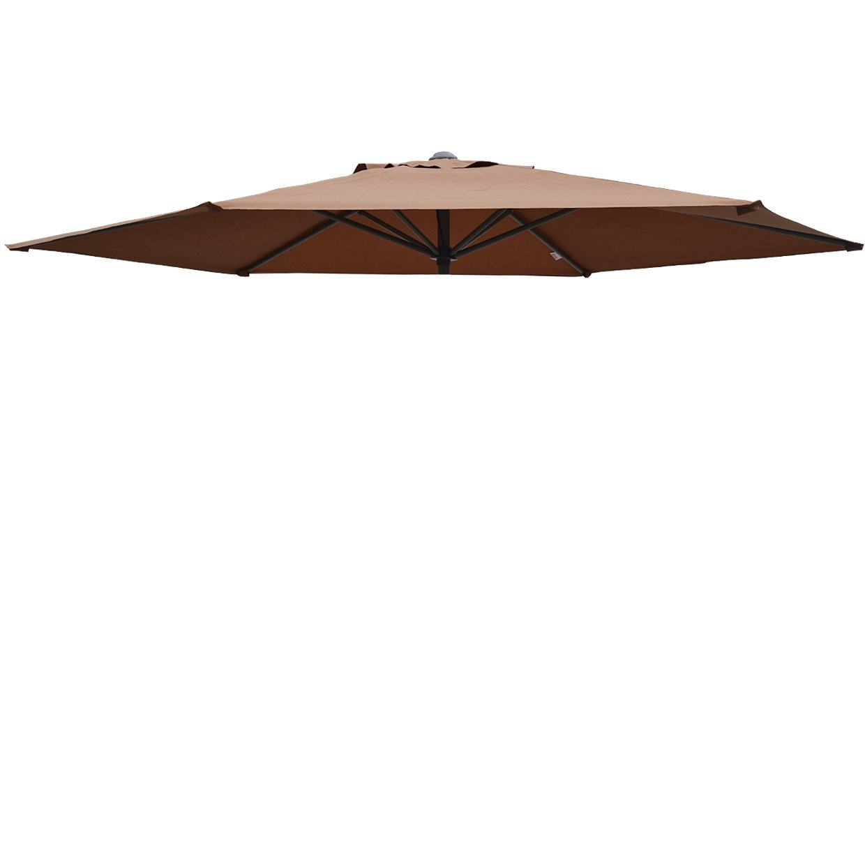 Replacement Patio Umbrella Canopy Cover For 9ft 6 Ribs Umbrella Taupe ( CANOPY ONLY)