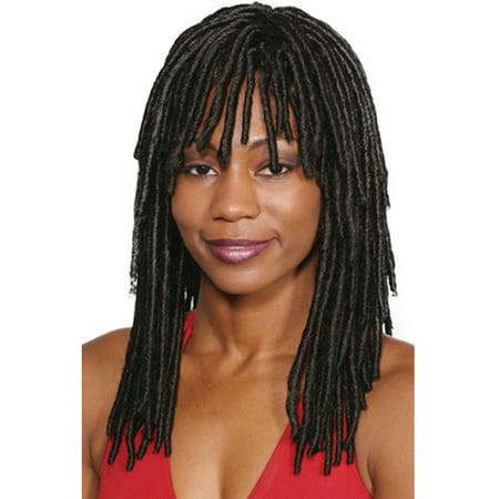 Dreadlock Wig (Fashion women medium straight Dreadlock)